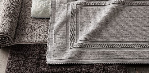 Cotton Bath Rugs from Restoration Hardware