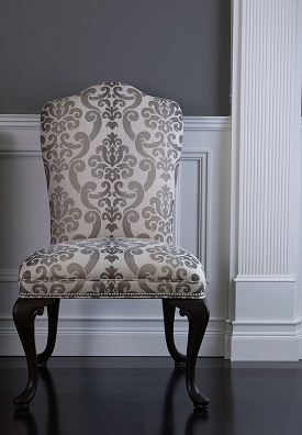 platinum toned fabric chair ethan allen