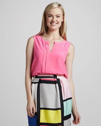 Kate Spade addie sleevleless top and barry patterned skirt