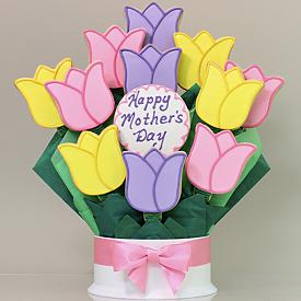 Mothers Day tulips cookie Bouquet