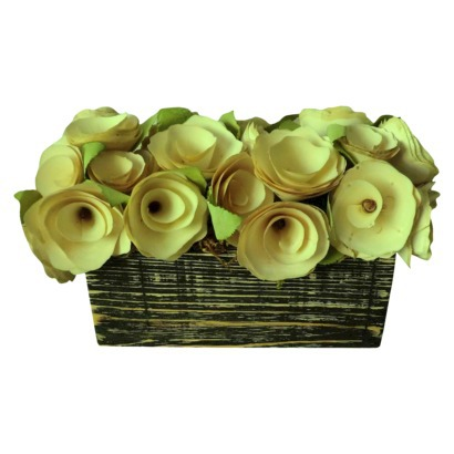 Smith & Hawken Floral Table Arrangement Curled Wood